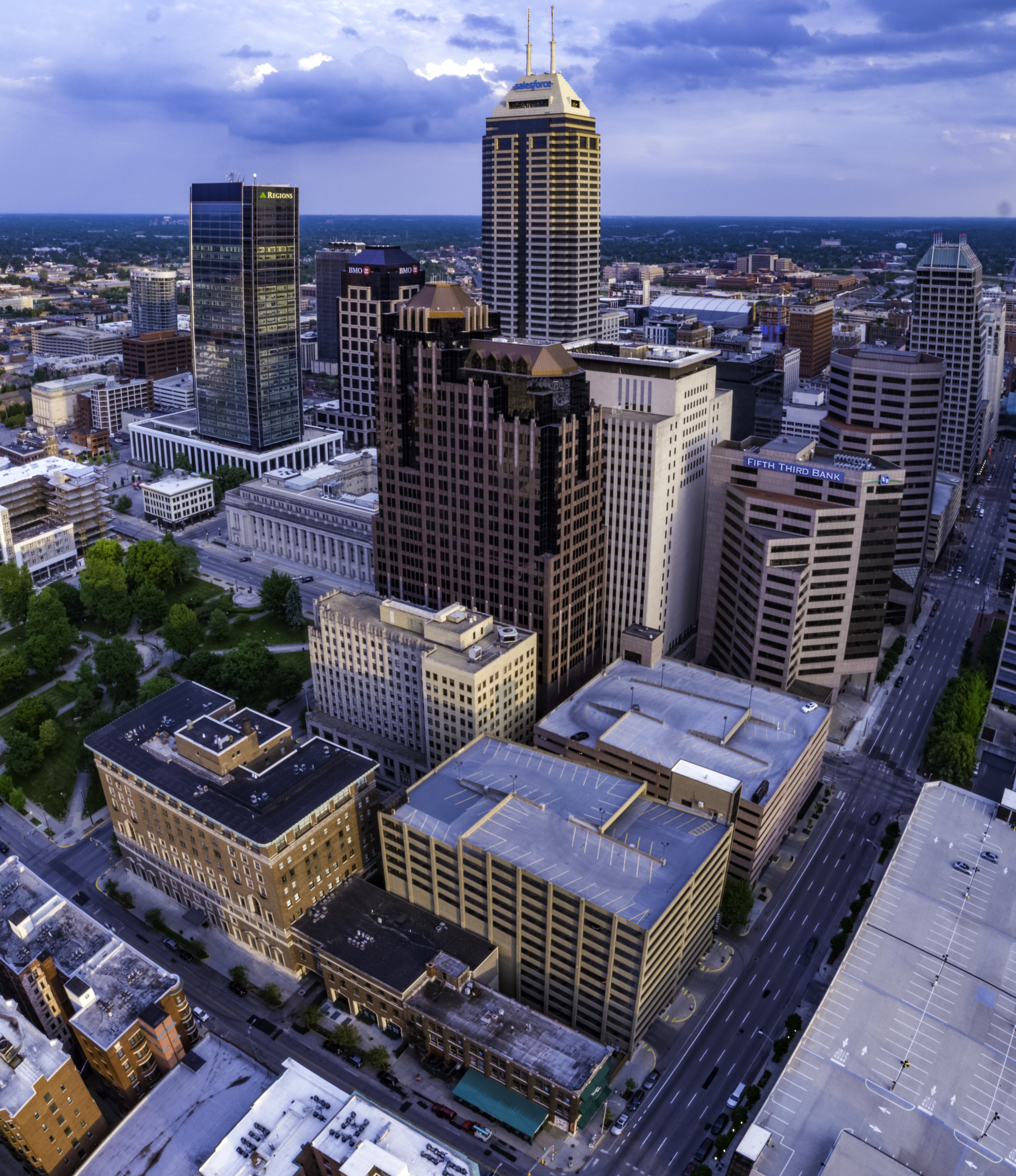 Downtown Indianapolis Drone Photography