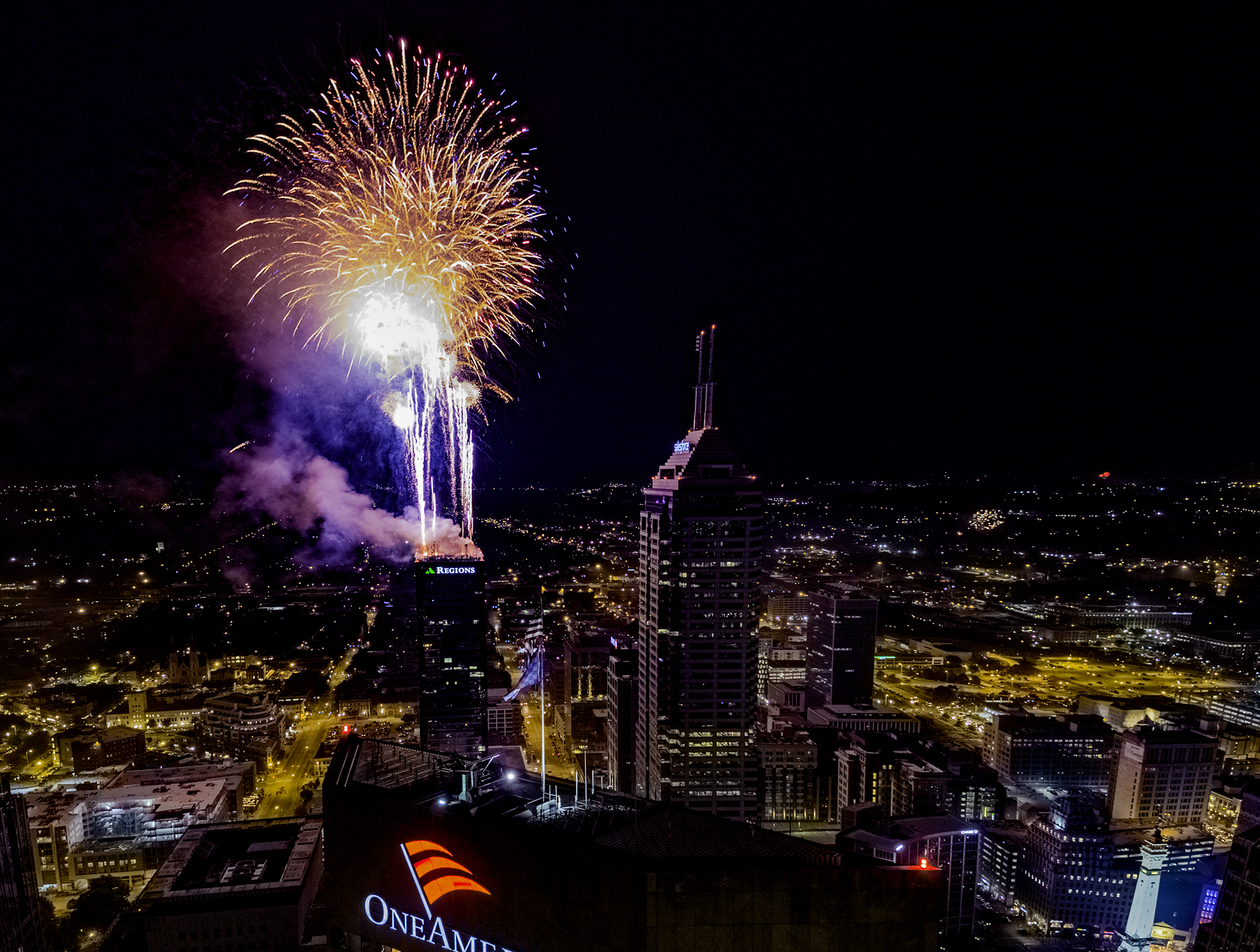 2018 Indianapolis Fireworks Finale Drone Photography