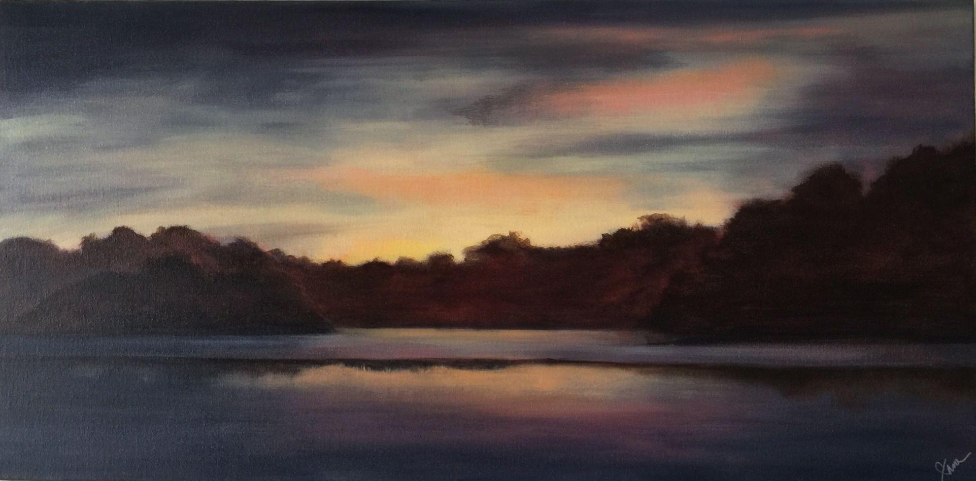 Evening Sky 18x36