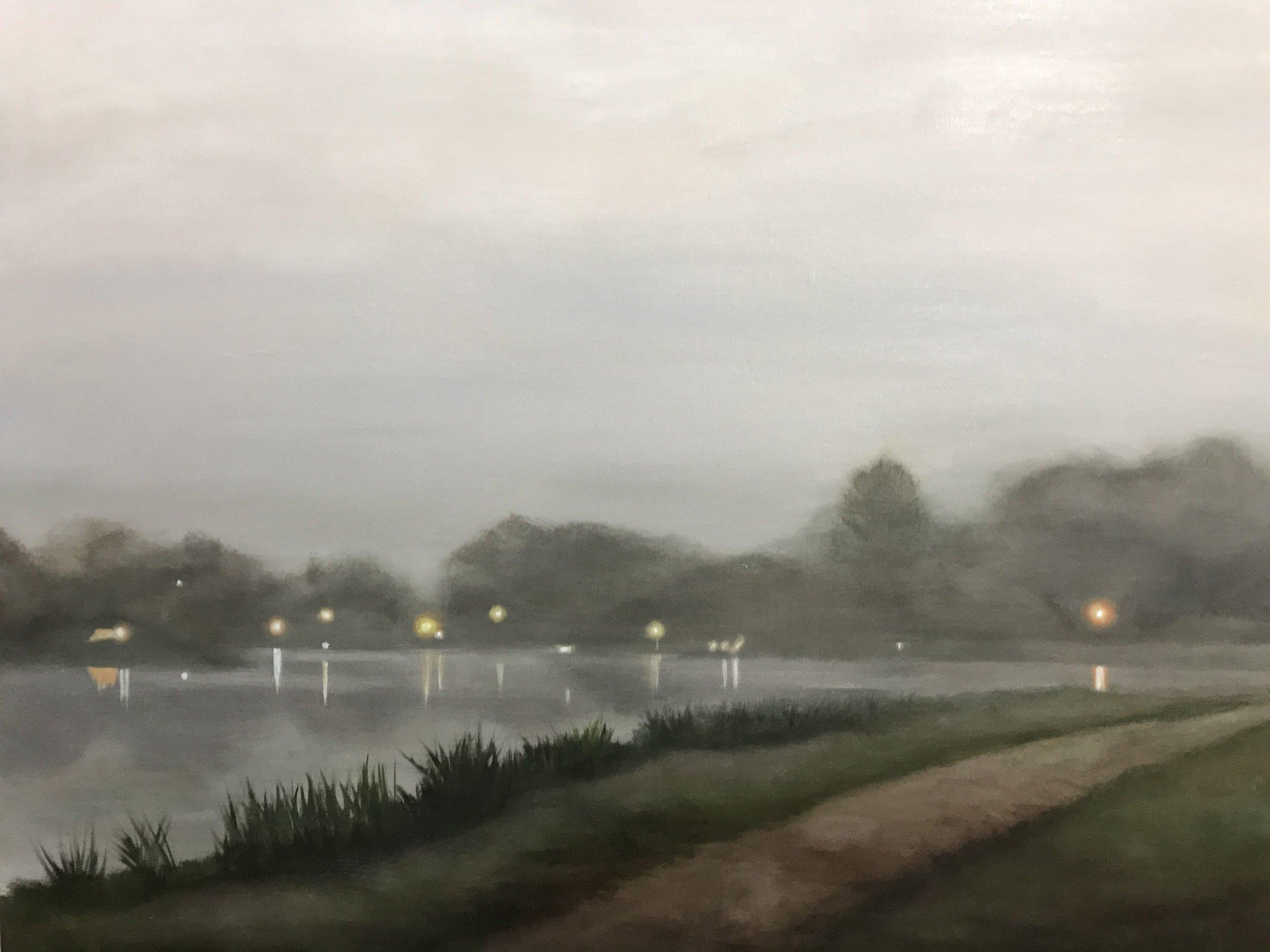 Walk on a Foggy Morning 24x30