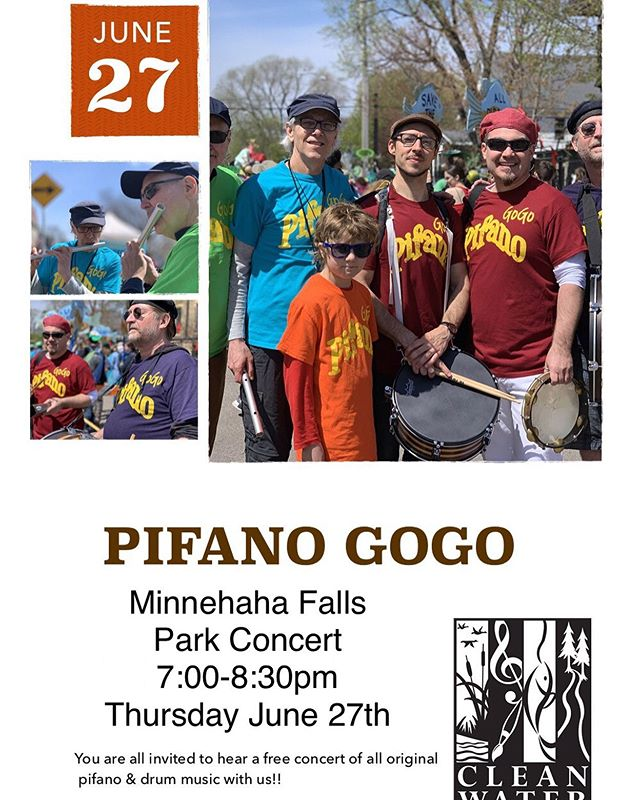 Come check out Pifano gogo on Thursday June 27th@ Minnehaha Falls if you can. 7-8:30