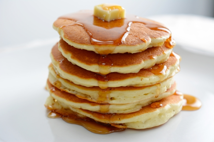 Pancakes by Chef Wylie Dufresne of Du's Donuts and coffee in Brooklyn, NY
