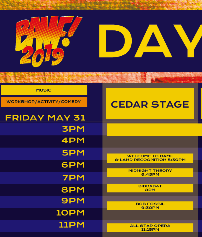 Friday, May 31st - Catch us at BAMF touching down to party at 11:15 on the Cedar/Main Stage. Tickets available  HERE