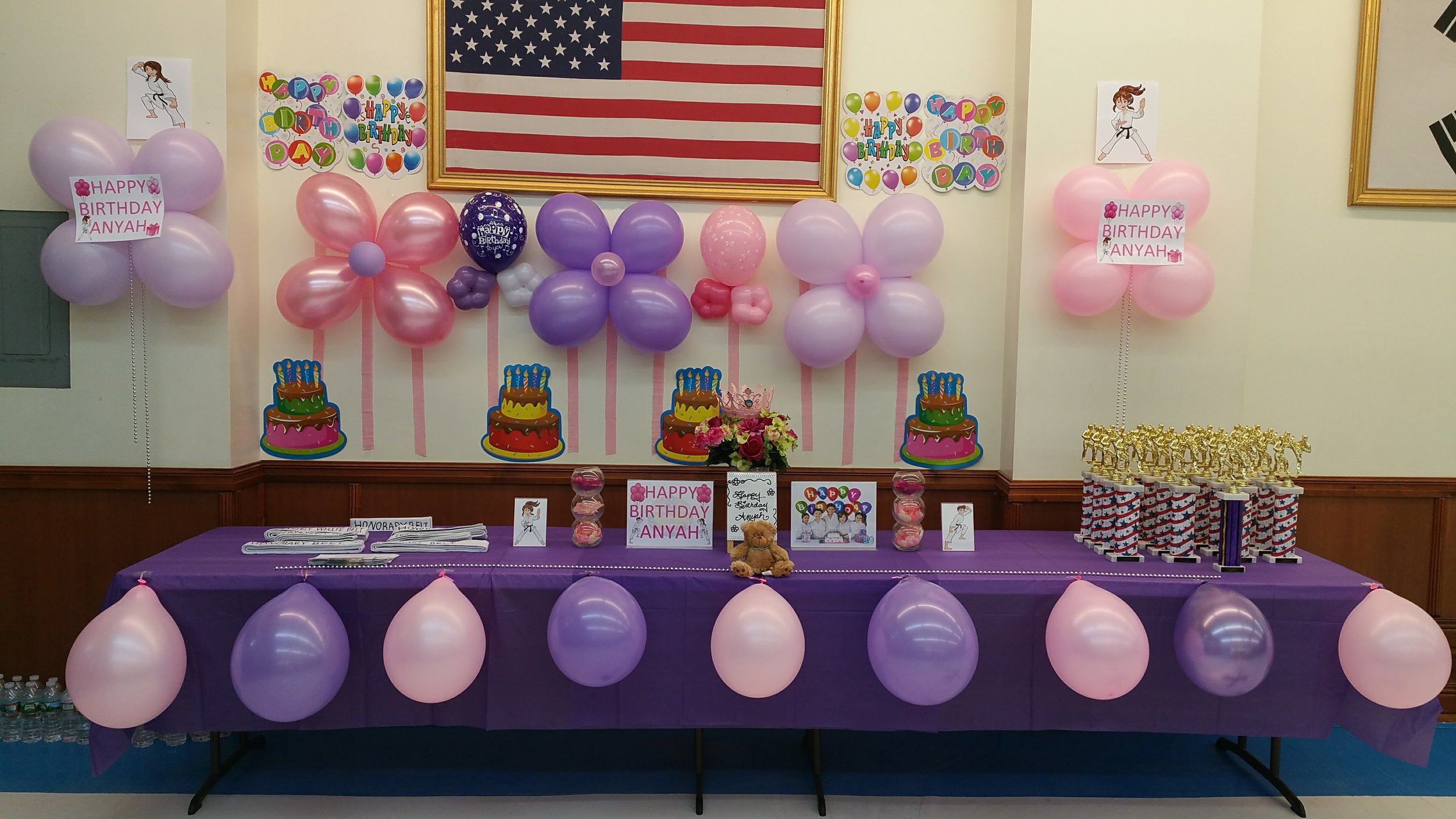 Pink & Purple Decorations for Anyah's Birthday Party