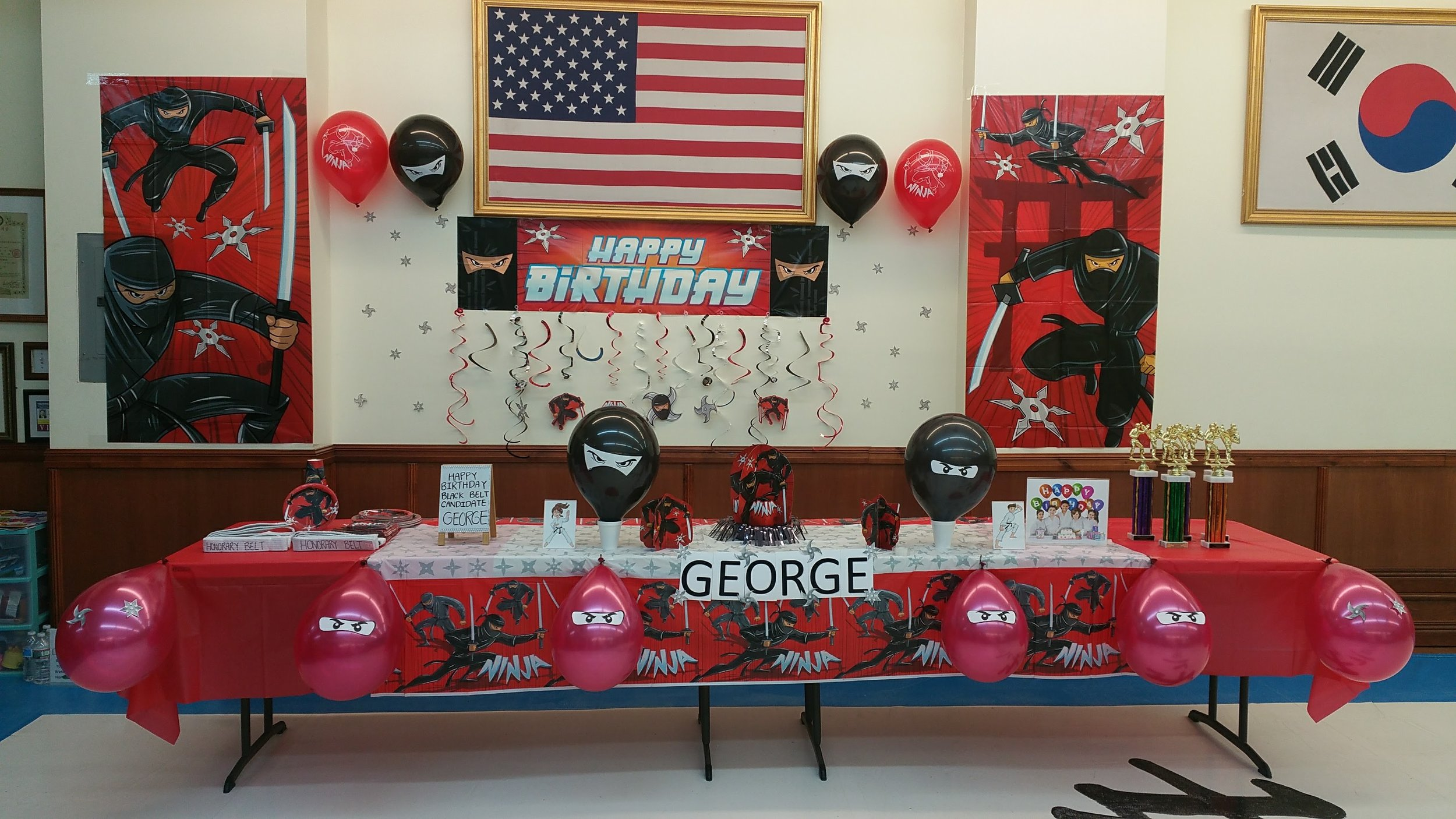 Ninja Themed Birthday Party for George!