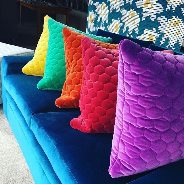 Beautiful bright velvets, @ Marco fabrics #interior stylist