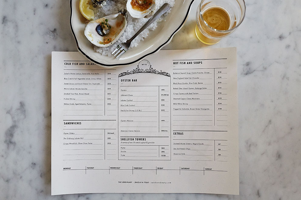 The Ordinary Restaurant - Part of the  Gal Meets Glam guide to Charleston .