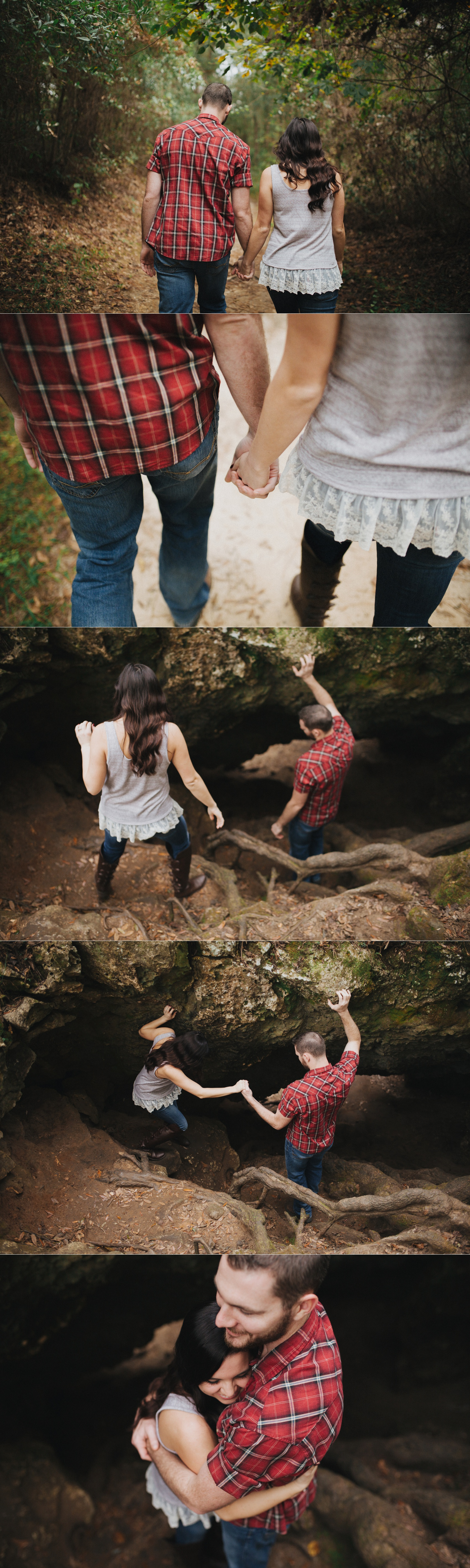 tampa outdoor hiking cave engagement session-1