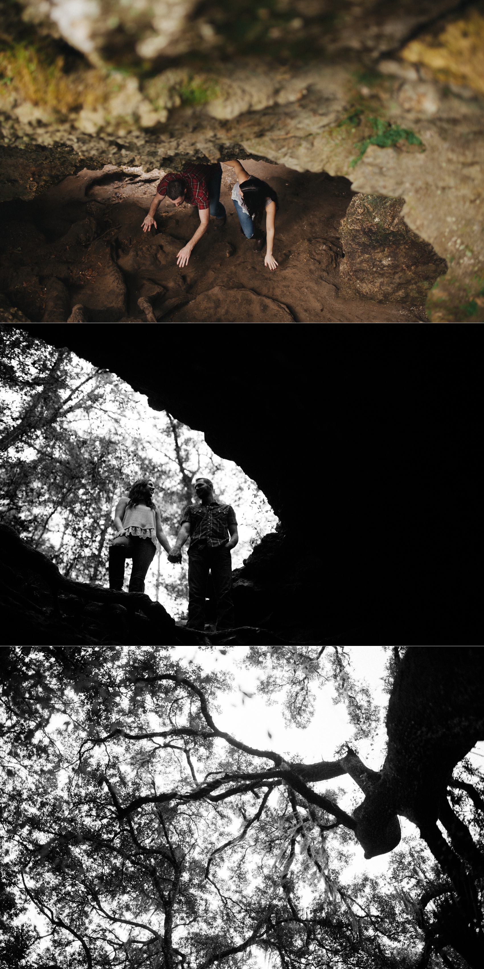 tampa outdoor hiking cave engagement session-6