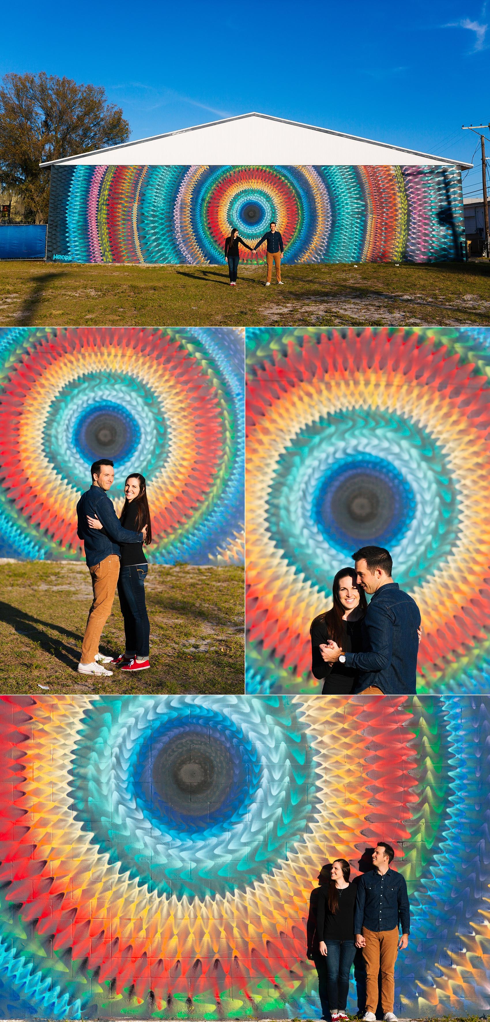 st pete mural hoxxoh engagement session steve lindsey-1
