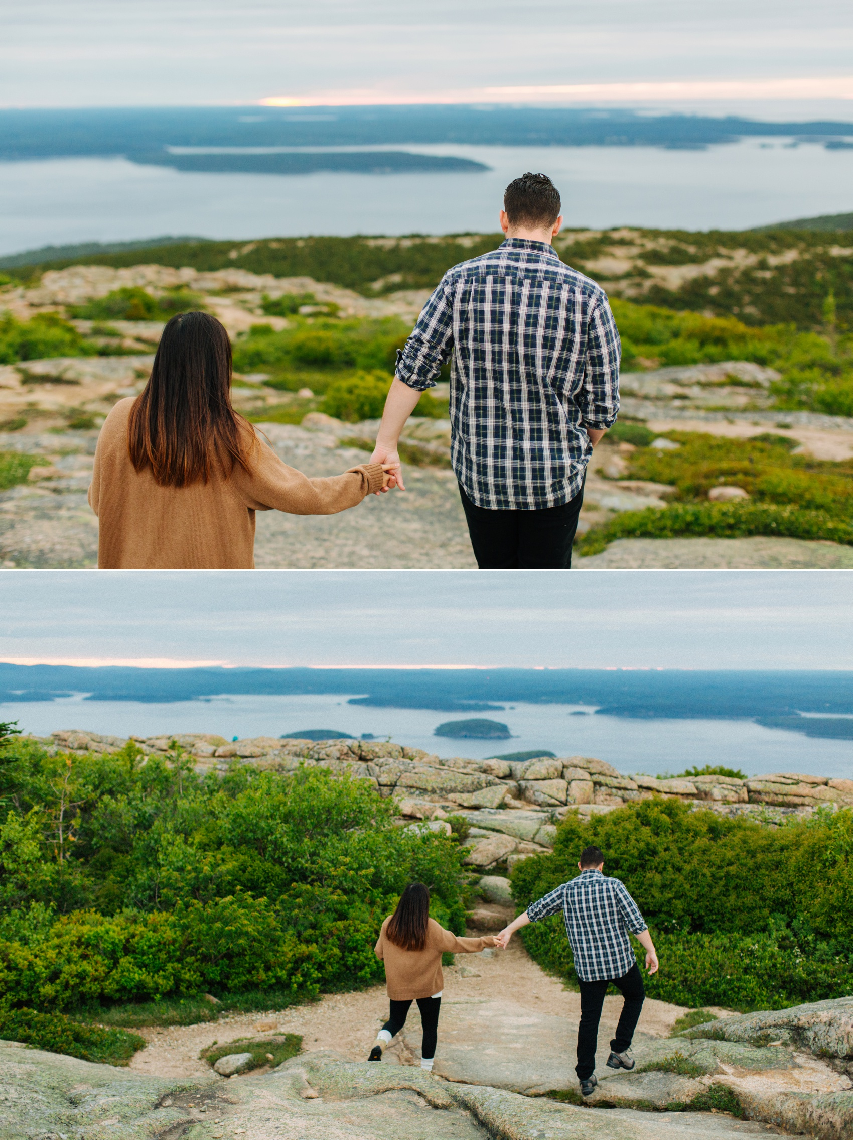 jake and jill acacdia national park engagement session cadillac mountain engagement session jordan pond engagement session maine engagement session jake and katie_0002