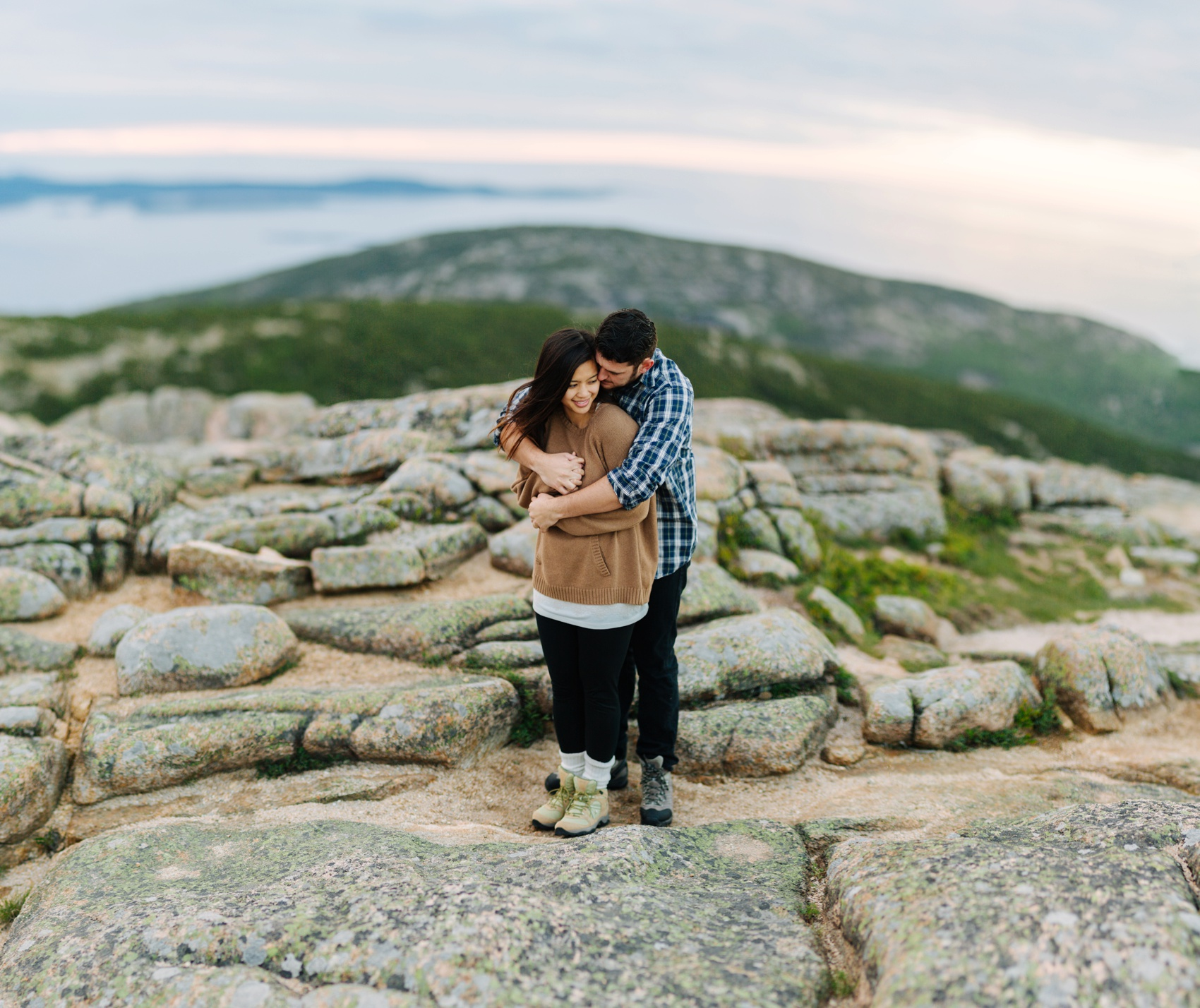 jake and jill acacdia national park engagement session cadillac mountain engagement session jordan pond engagement session maine engagement session jake and katie_0011