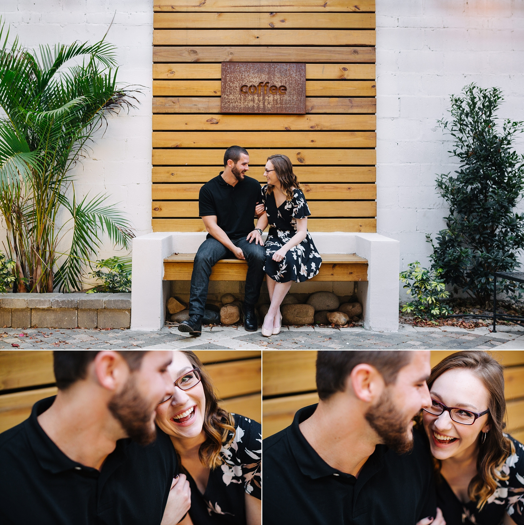 foundation coffee co tampa florida tampa engagement photos