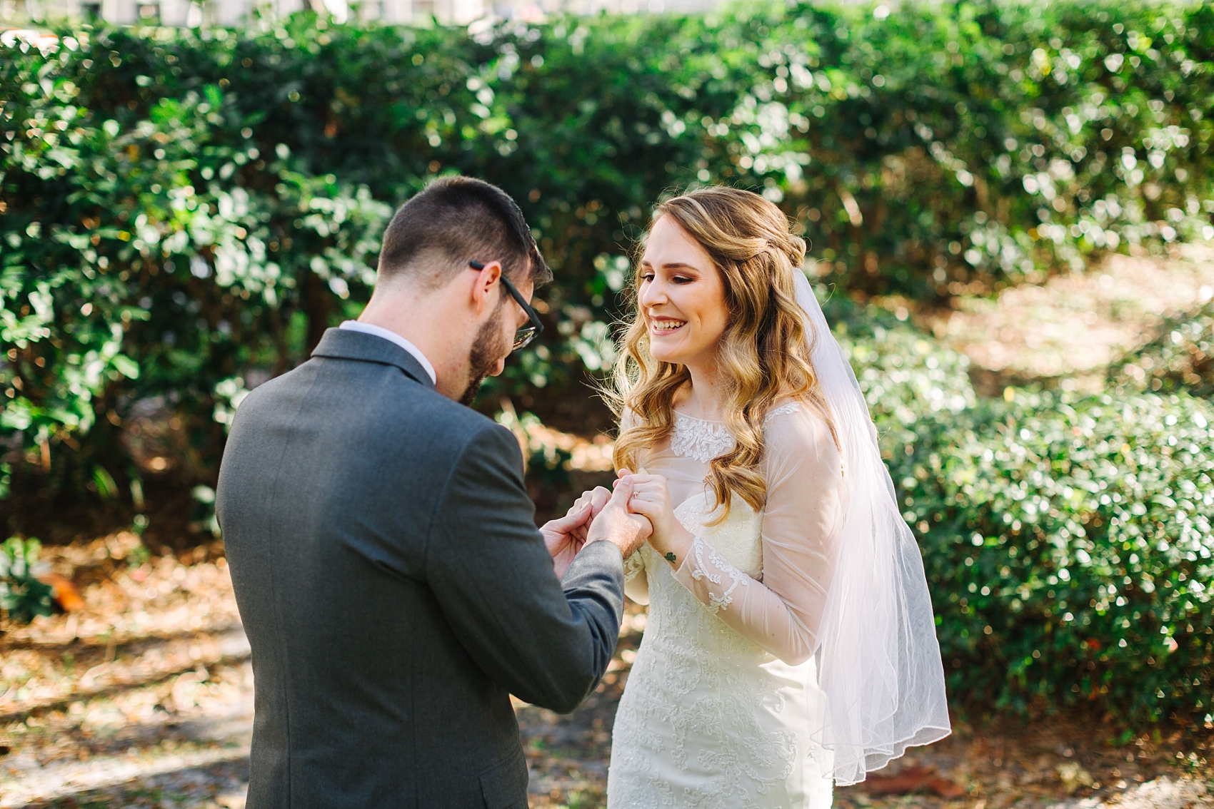 Sweet first look | tampa wedding photographer jake & katie photography danny lauren wedding