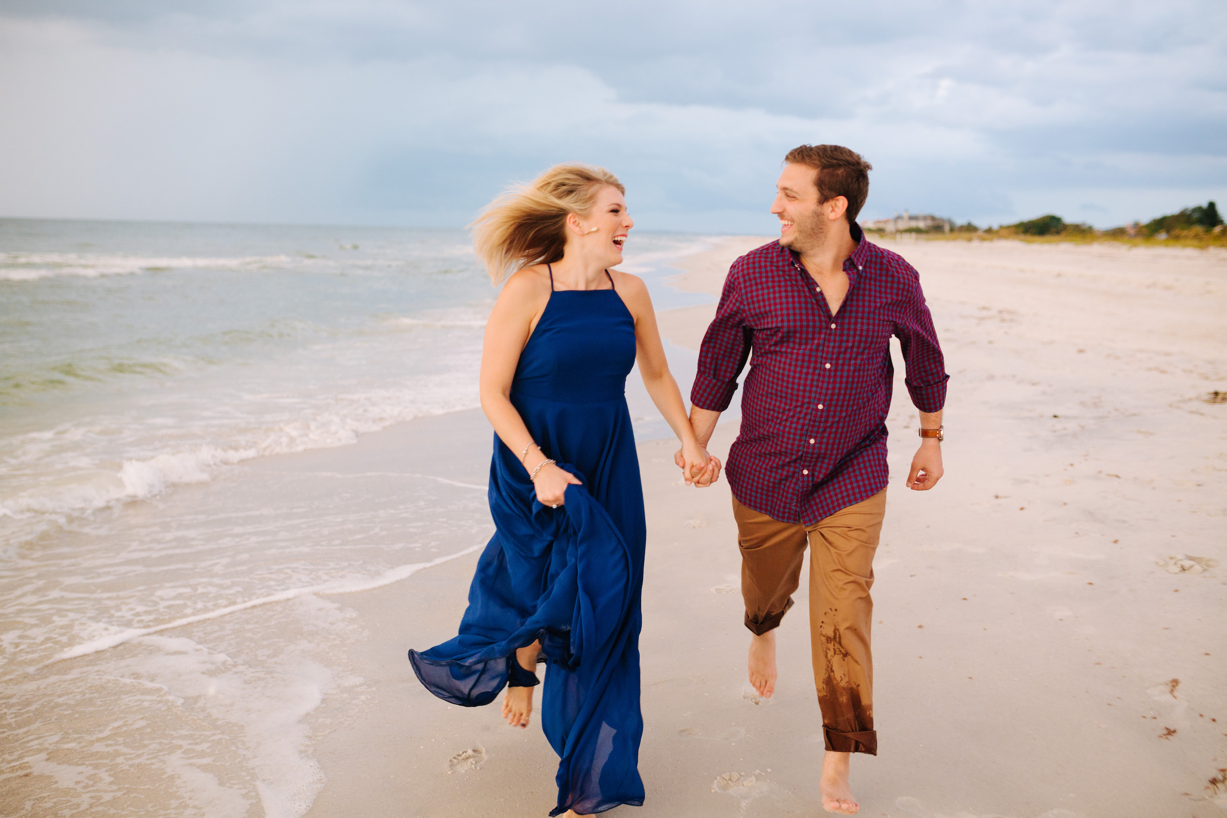 clearwater beach sunset engagement photos