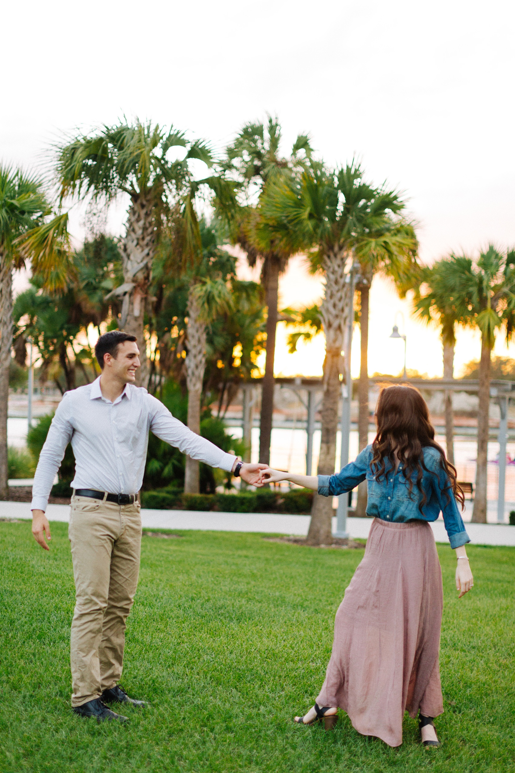tampa riverwalk engagement photos