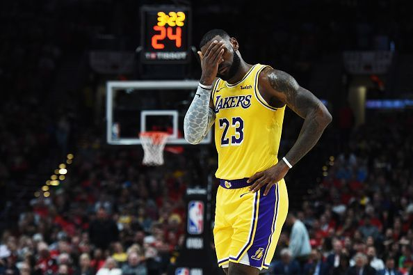 LeBron James shows signs of frustration after a tough loss late last week. (Photo by: AP/ESPN)