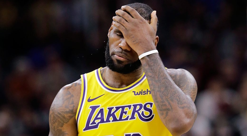 Lakers Forward LeBron James will potentially miss this years NBA playoffs for the first time since 2005.  (Photo by ESPN)