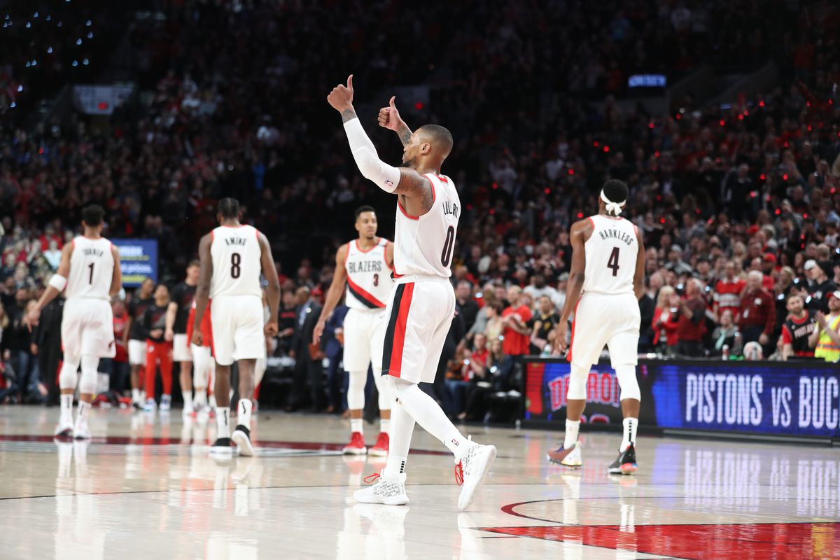 Damian Lillard and the Portland Trailblazer's will face the Denver Nuggets in the Western Conference semi-finals (Photo by: SB Nation)