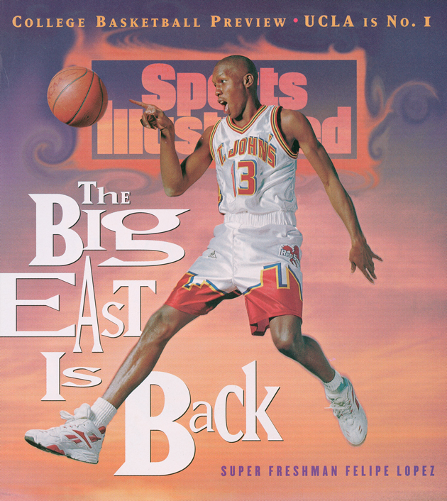 St.John's Freshman Guard Felipe Lopez was the first ever high school athlete ever to grace a sports illustrated cover. (Photo by: Sports Illustrated)