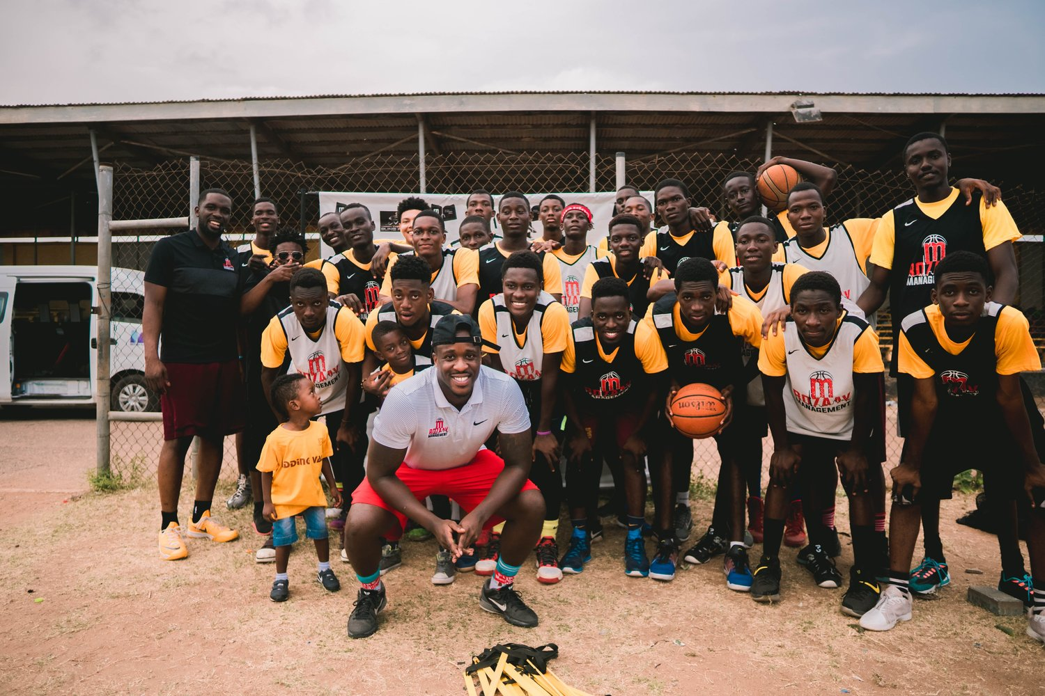 RozaayManagement facilitated a basketball clinic for the youth in Ghana (Photo by: Steven Van)
