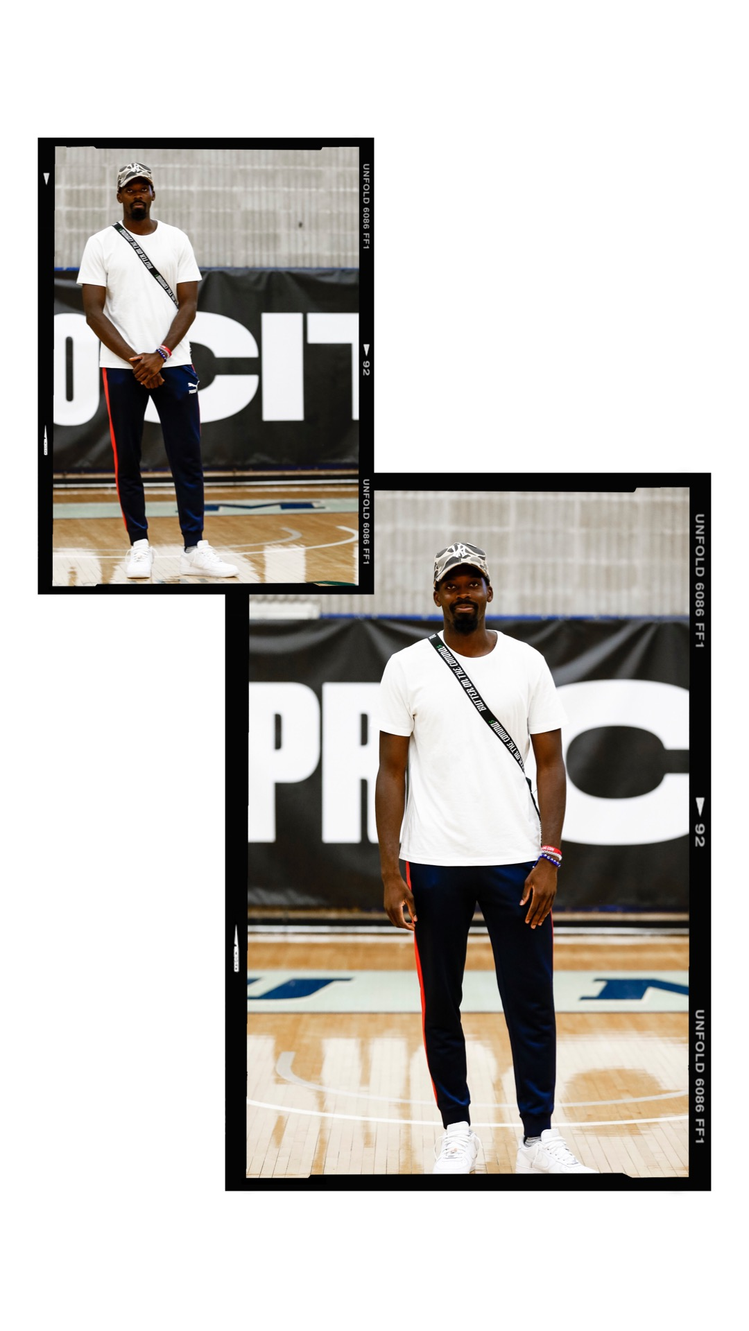 Founder of TGQ Inc. Hussein A. at Nike's Pro-city NYC. ( Photo by: @nicolesweetsports, ) ( Graphic by:@pvkhrajs )