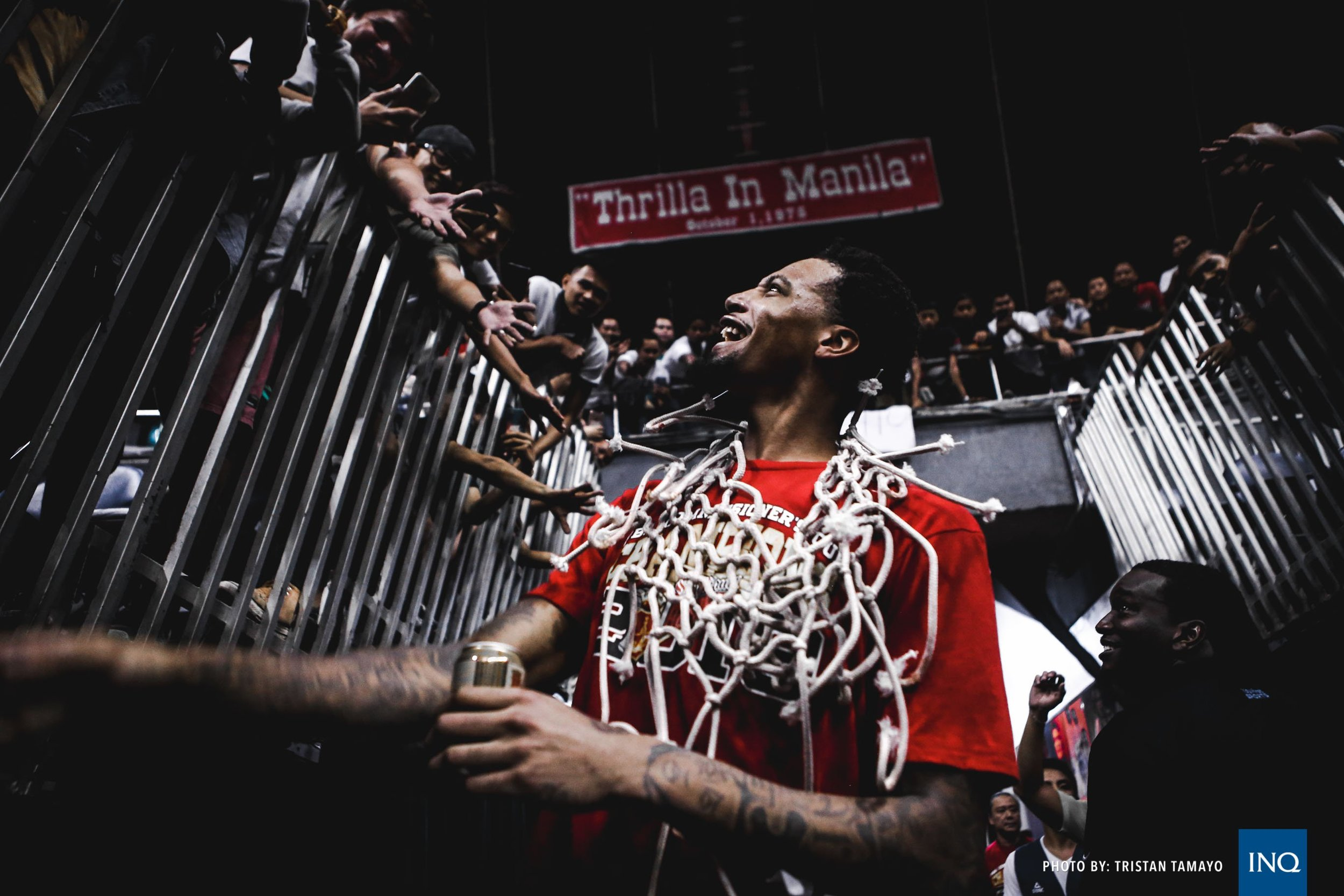 Thrilla In Manila - Chris McCullough celebrates as he wins the Commissioners cup title.