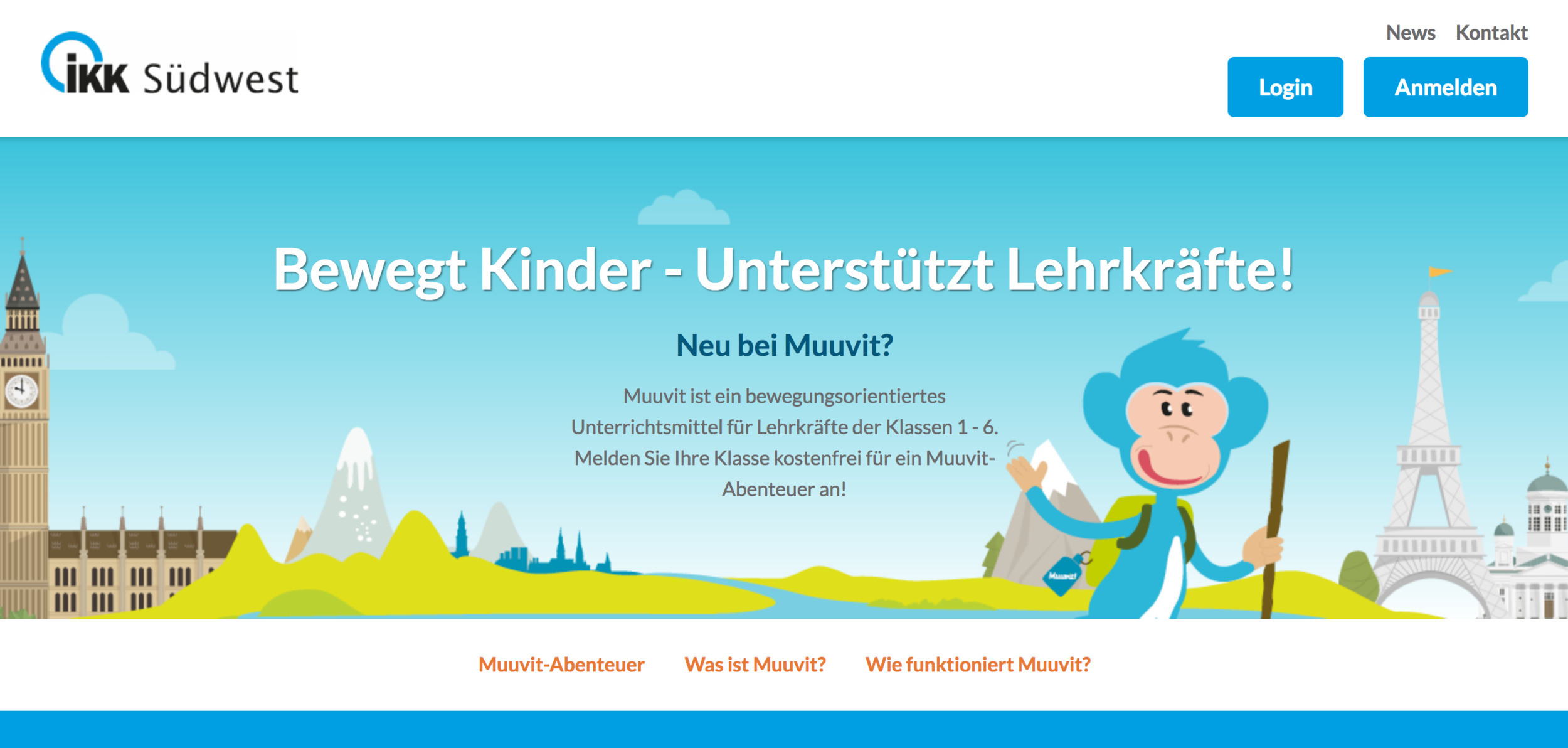 IKK Health Insurance - IKK health insurance with approximately 700 000 insured members in South-West Germany, applies Muuvit as a health promotion and community engagement tool.