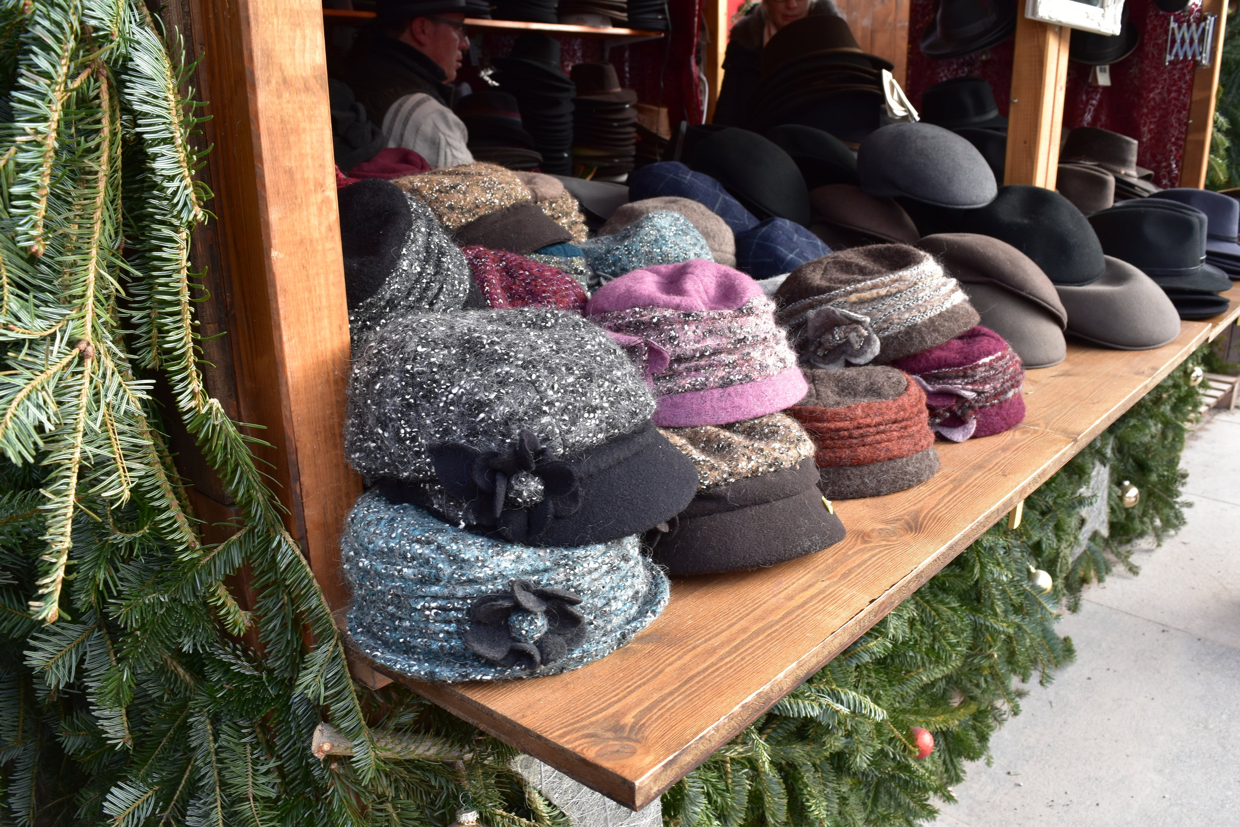These hats that were sold at the Christmas Market in Baden Baden, Germany make the perfect holiday gift.
