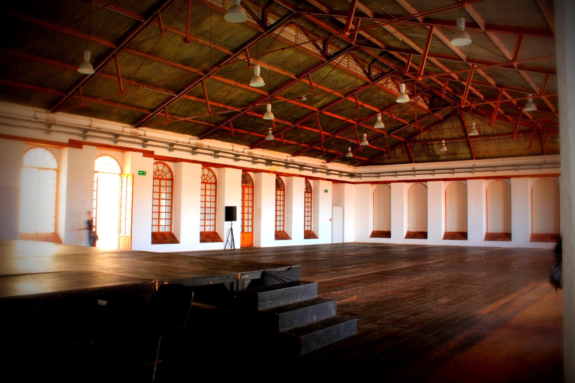 The former industrial weaving floor, now the best dance hall ever!