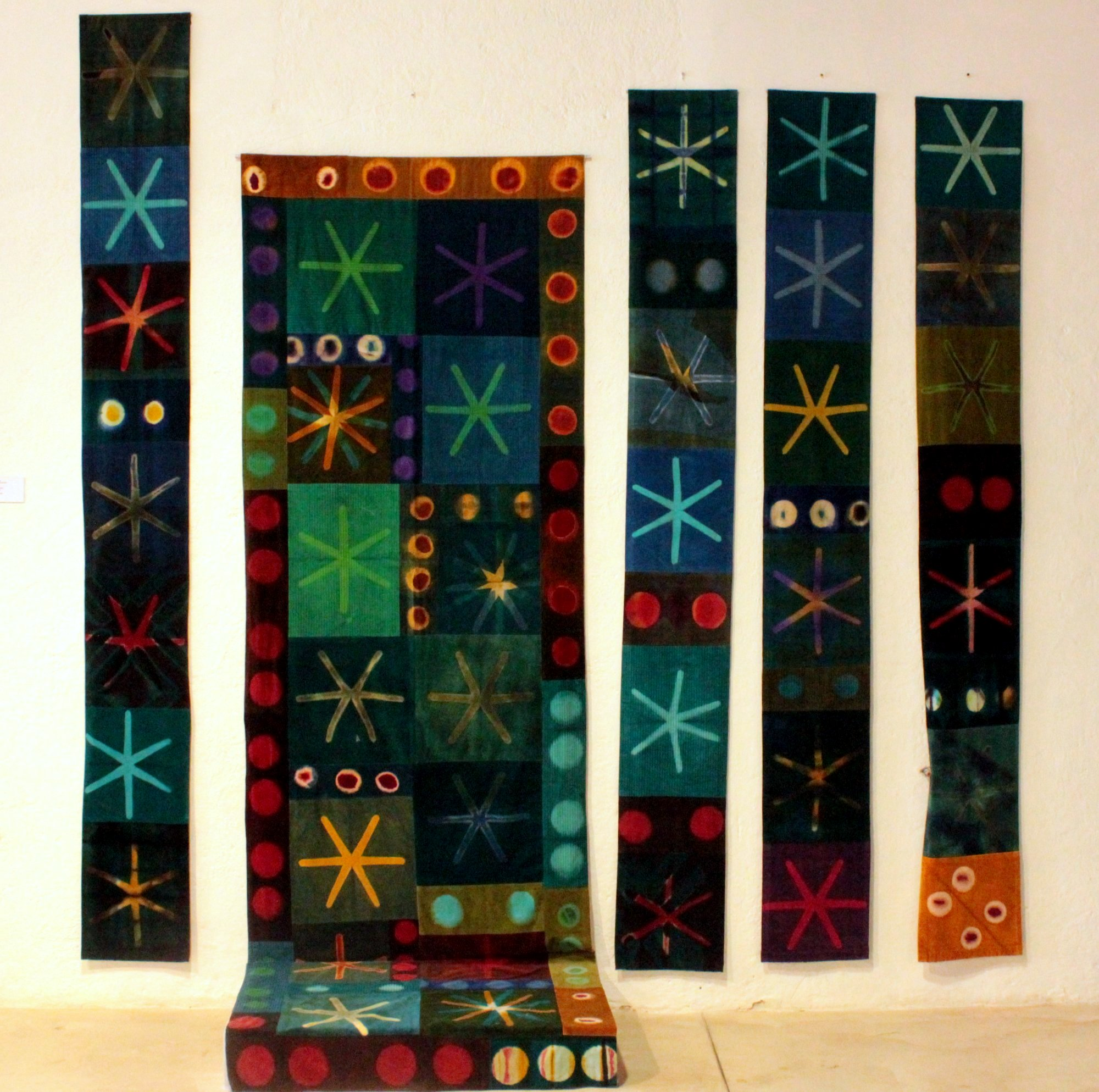 Dyework on velvet by a Swedish artist.