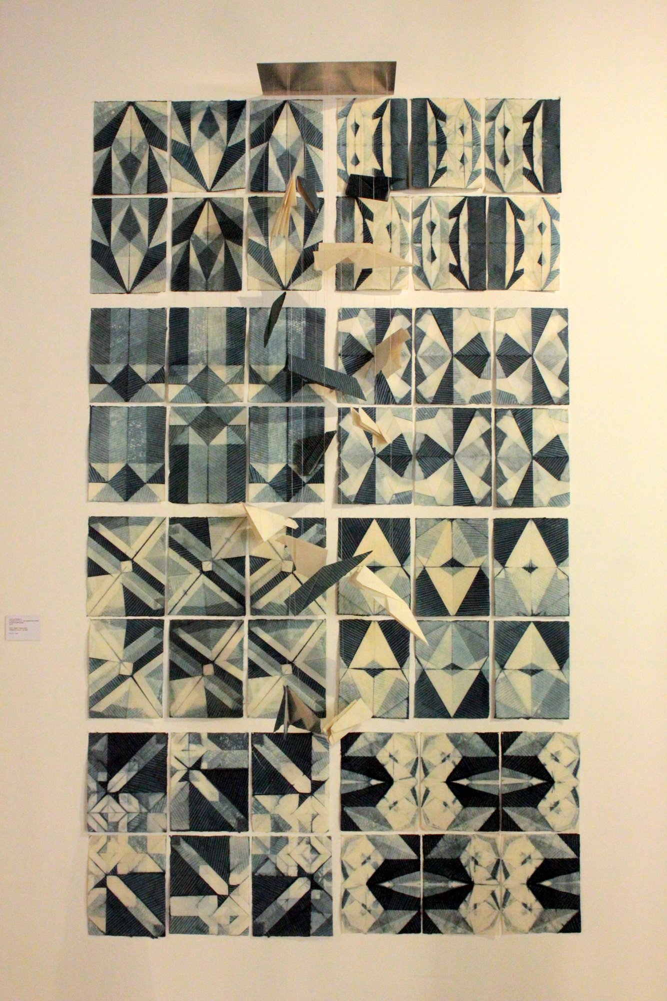 Paper airplane folds make for the most interesting shibori patterns! by Ana Lisa Hedstrom