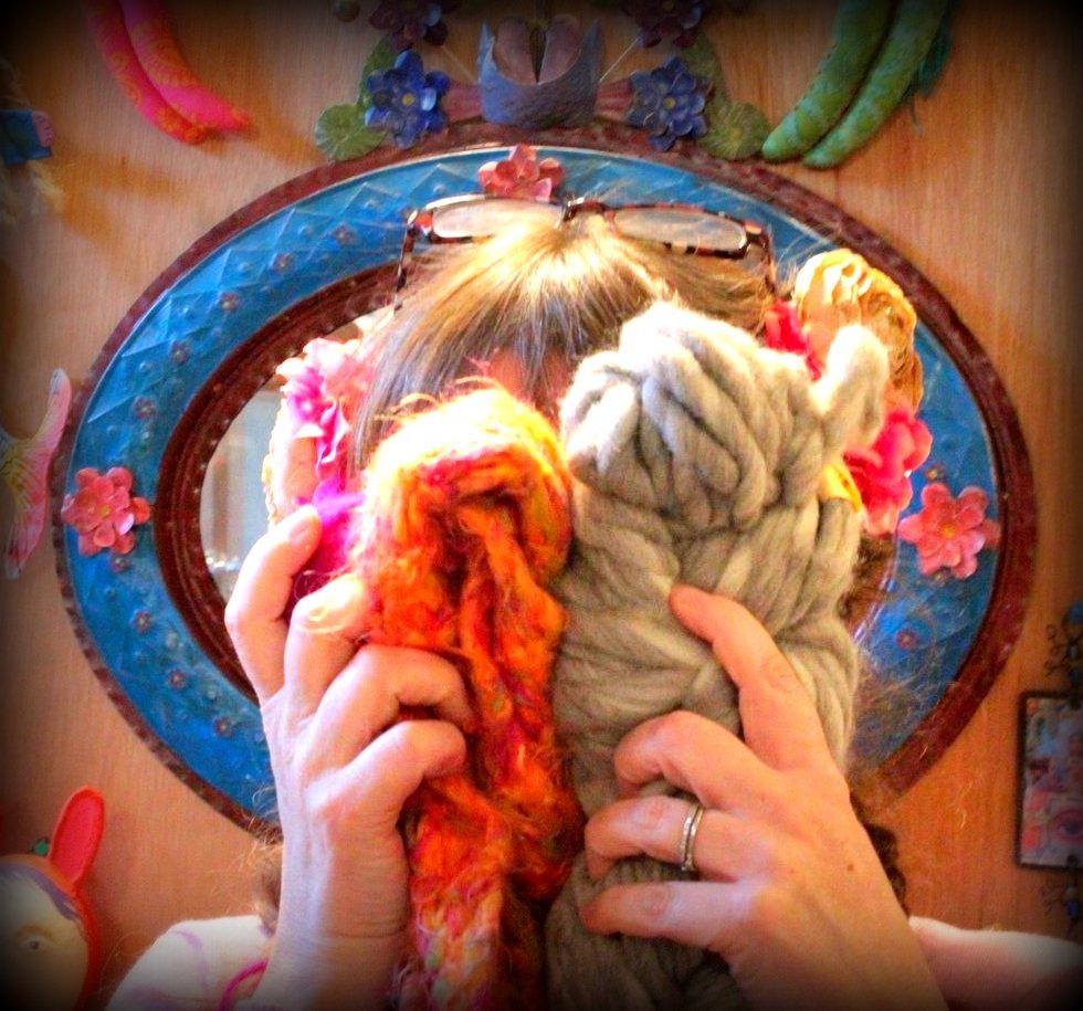 Going all the way with luscious yarn!