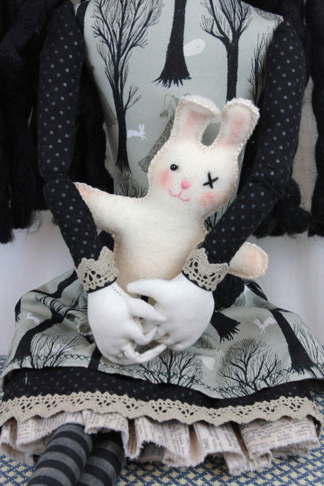 Edwina (detail of her bunny)