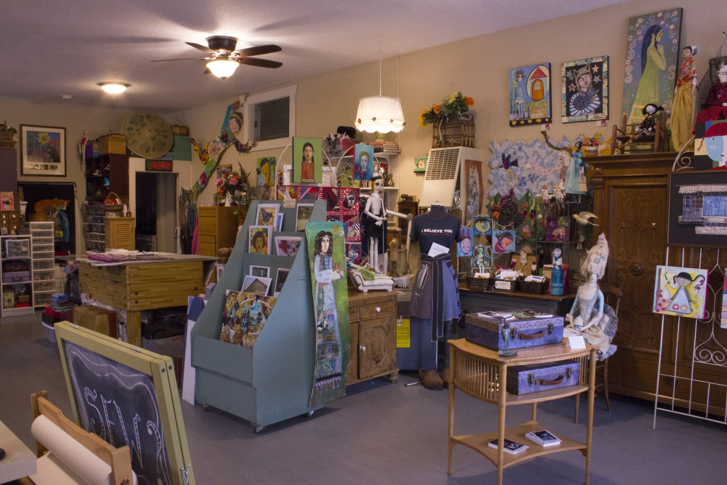lulu's studio at Stanley and Hazel in Milwaukie, Oregon