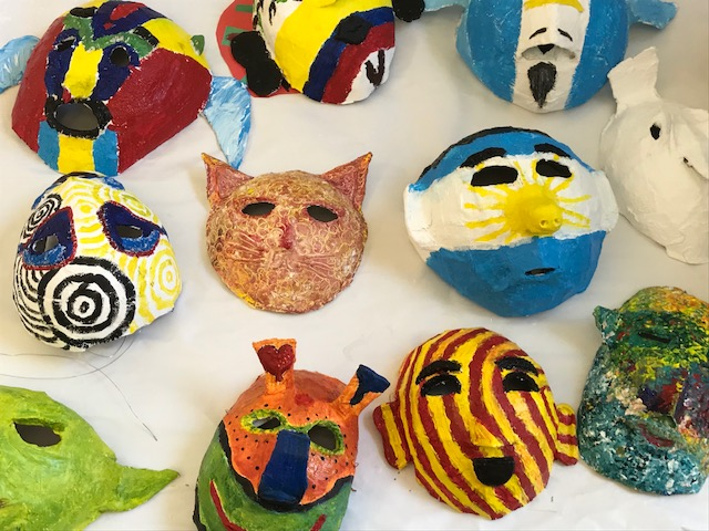 papier maché masks