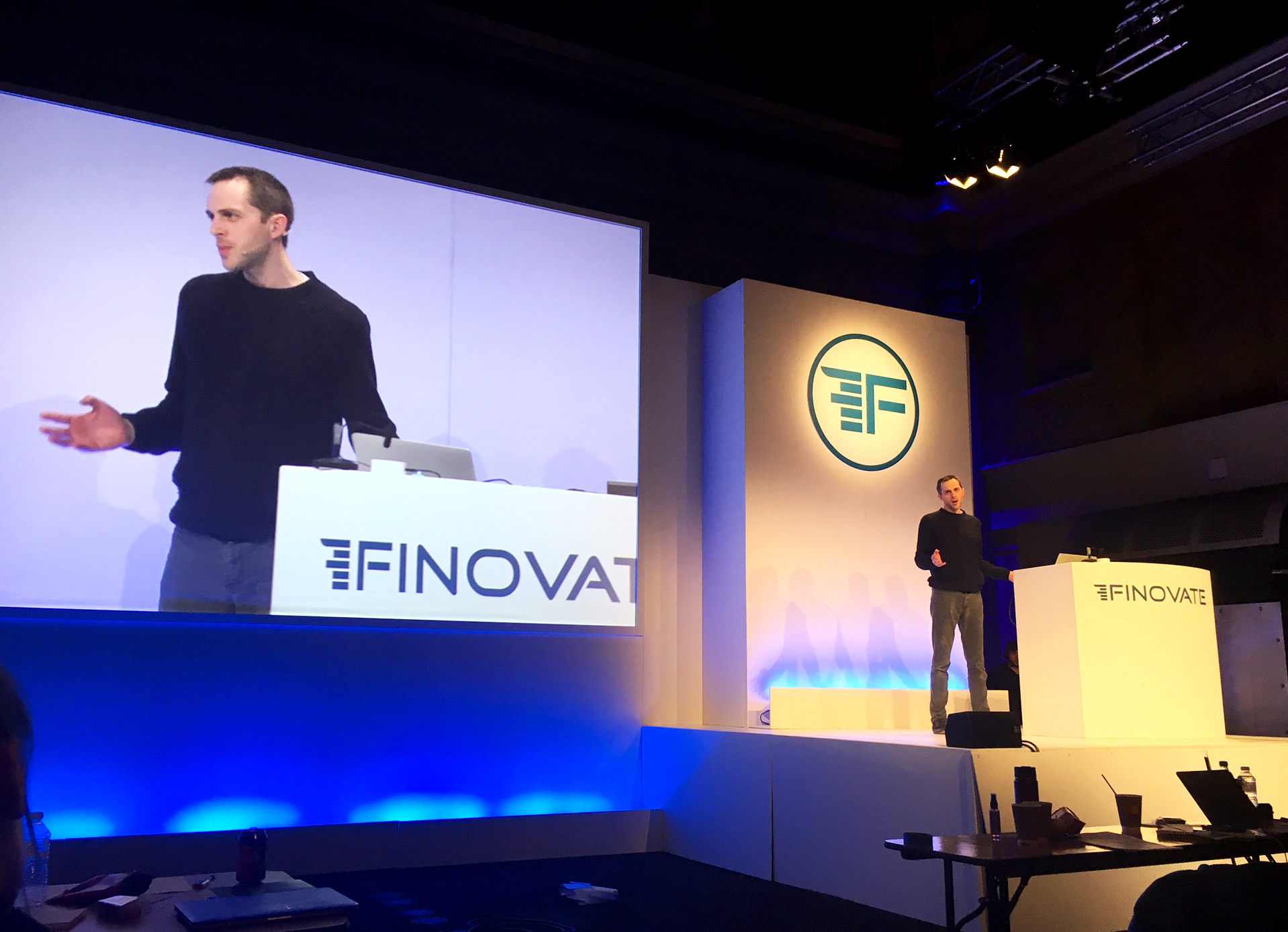Dave Tonge speaking at Finovate 2017