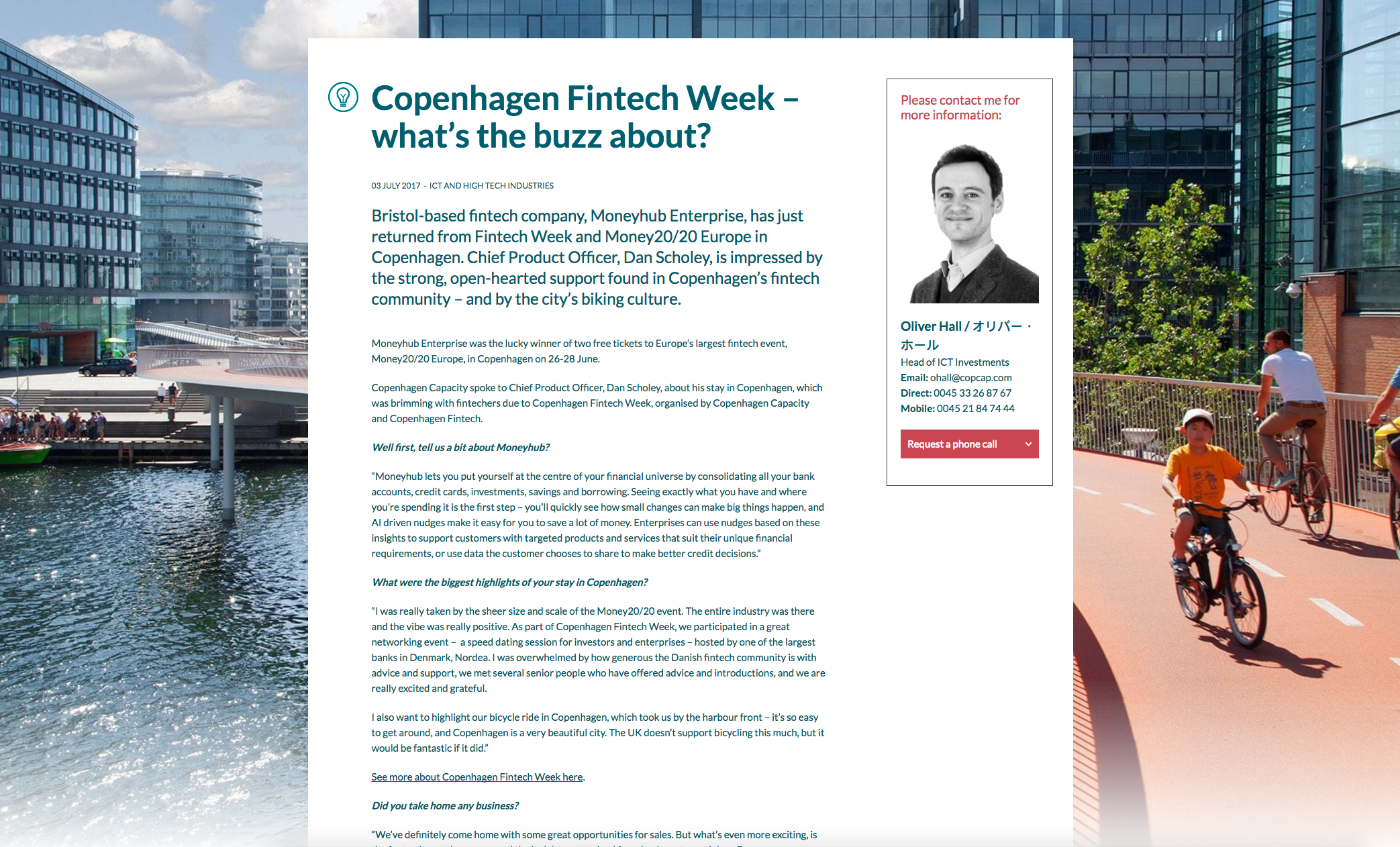 Copenhagen Fintech Week article