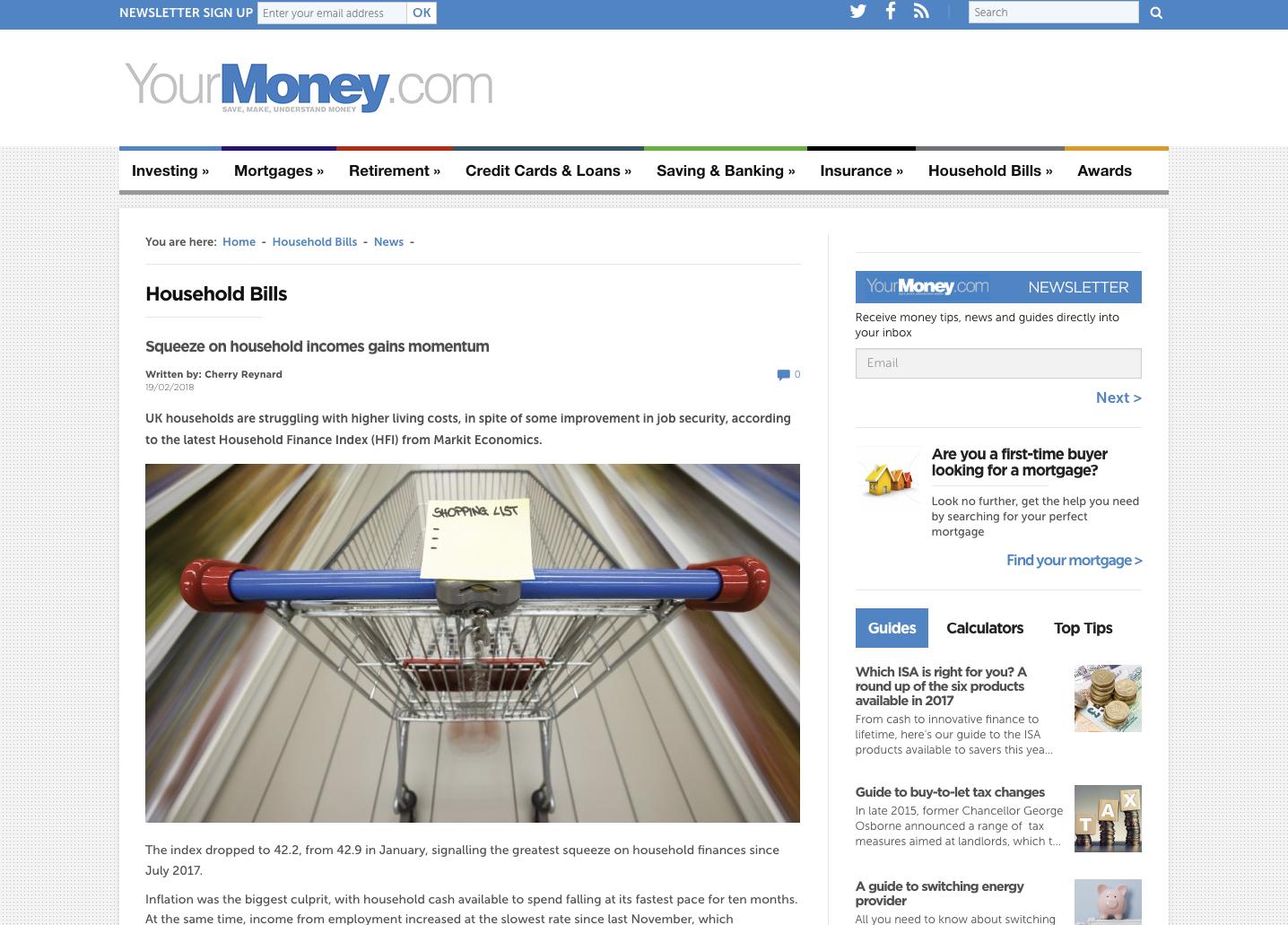 YourMoney Household Bills