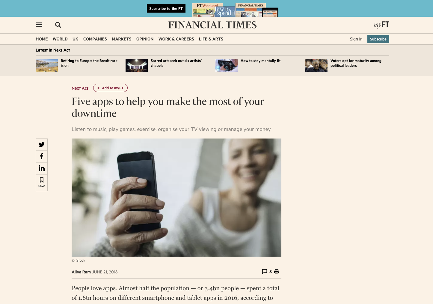 Financial Times article