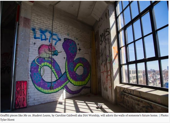 """ Brewerytown Warehouse Conversion Keeps Graffiti In The Picture ""  HiddenCity Philadelphia.      Read more"