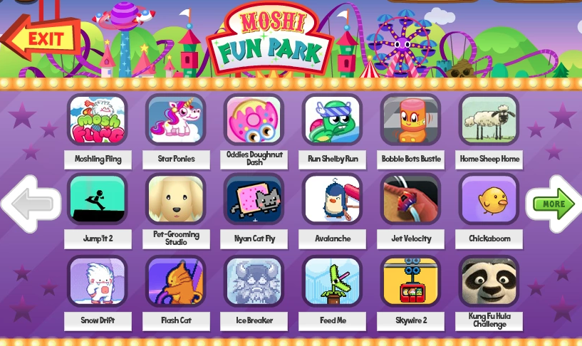 Don't forget to go to the arcade to play all the other awesome games also made by the makers of Moshi Monsters.