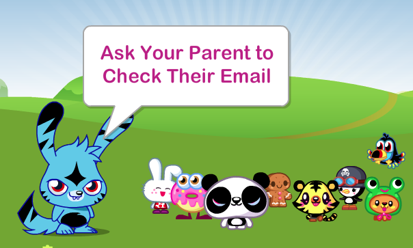 This game asks for parent permission before you can set up an account.