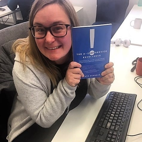 This is Mel. Mel works at @gmhba. Mel reads at work. Mel only reads excellent books. Be like Mel.🤩🤩🤩🤩🤩 Download the first chapter for free. 💥  Thanks Mel for your book review and passion for people skills at work. Cate 🤗💐 #customerserviceskills  #workplacetraining  #gmhba #bethebest #softskills  #lovework  #geelong  #ballarat  #melbourne and beyond