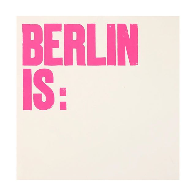 What does Berlin mean to you?