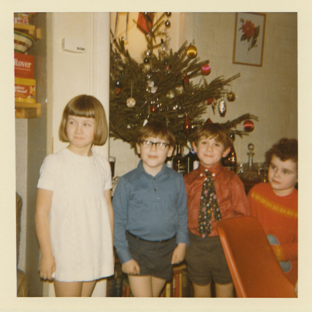 Christmas with an Instamatic, siblings and someone's friend... (c.1972)