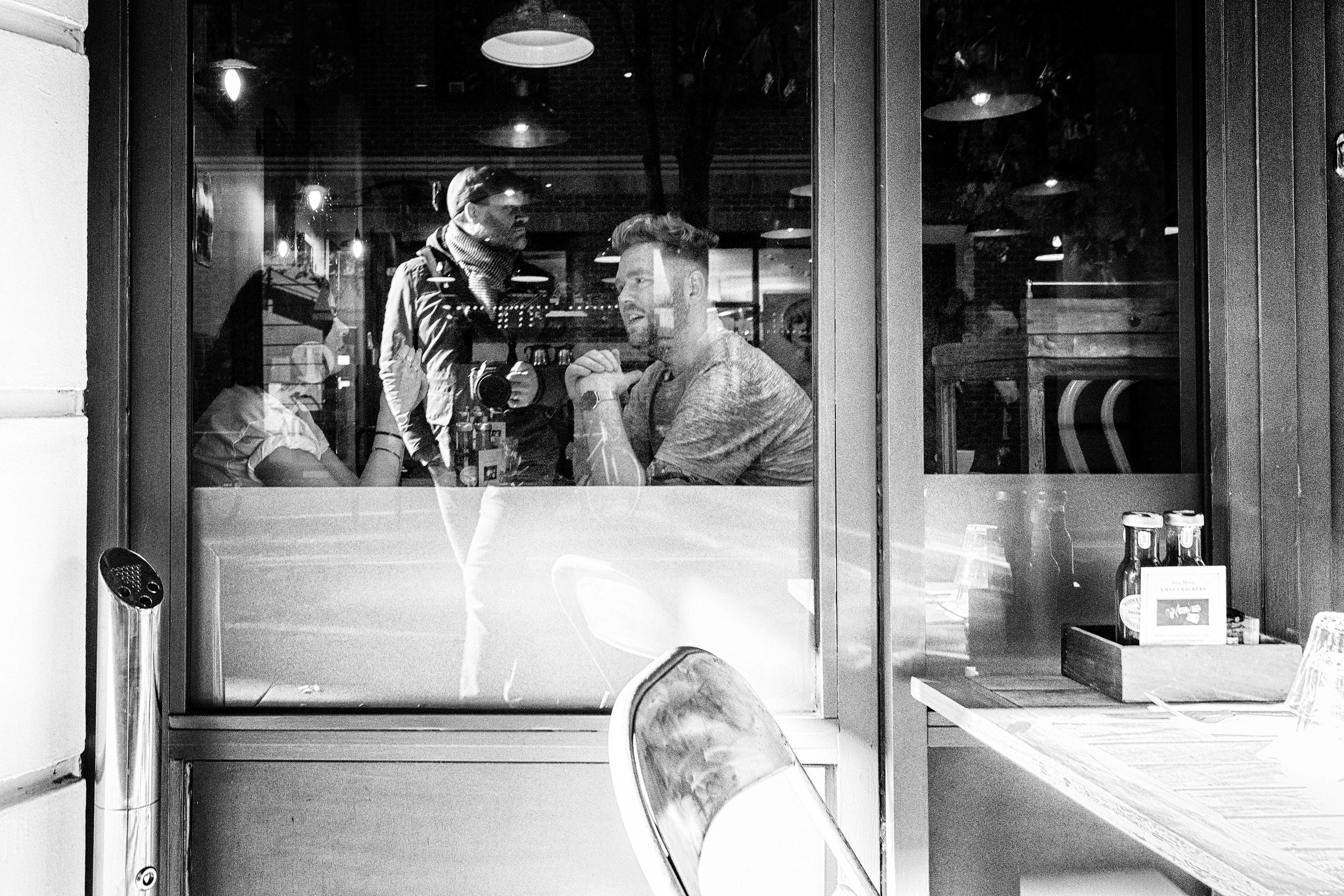 Coffee with the street photographer. London November 2016