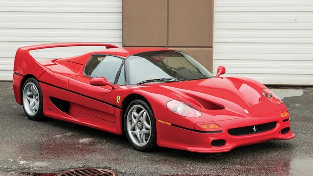Delivered new to boxer Mike Tyson, this 1995 Ferrari F50 still sold for $2,640,000. | Official Auction Page(Credit: Kevin Uy, RM-Sothebys)