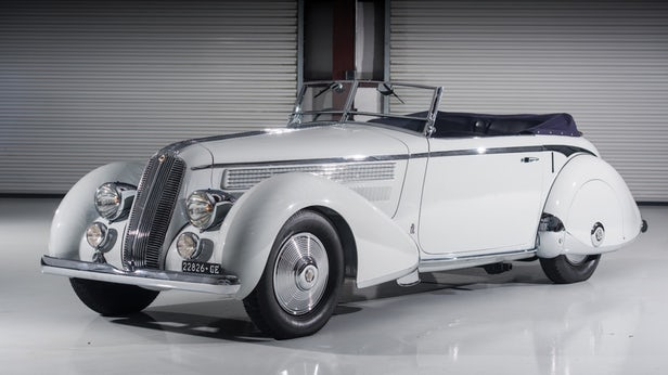 "This 1936 Lancia Astura Cabriolet Series III ""Tipo Bocca"" by Pinin Farina sold for $2,145,000 was Pininfarina's 1936 Milano Motor Show car and displayed at the inaugural Concorso d'Eleganza, in San Remo in May 1937. 