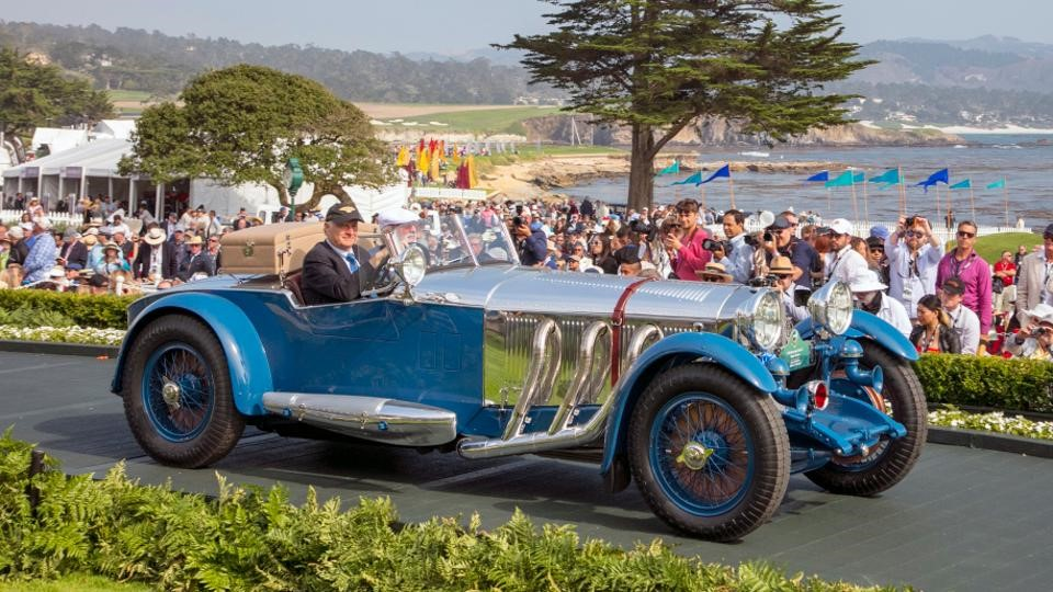 Best of Show at the Pebble Beach Concours d'Elegance 2017 was awarded to the 1929 Mercedes-Benz S Barker Tourer owned by Bruce R. McCaw of Bellevue, Washington.